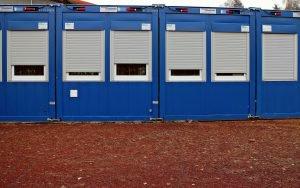 Container für die Baustelle